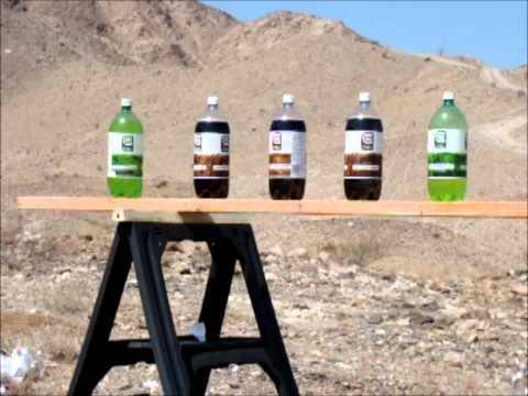 Through 21 2 liter soda bottles with a browning bar shorttrac 308