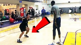 44-year old Steve Nash teaches his post moves to Kevin Durant