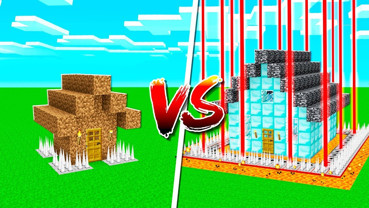 NOOB SAFEST HOUSE vs PROS SAFEST MINECRAFT HOUSE!