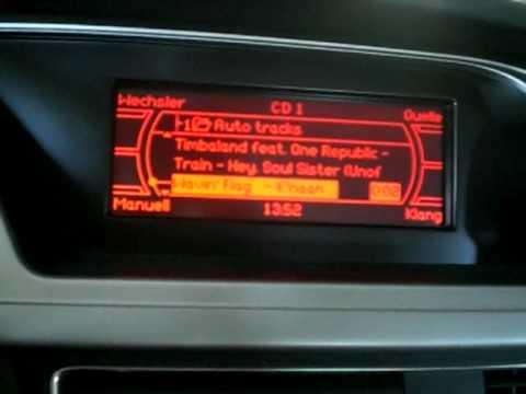 Mmi Basic Plus Monochrome Mp3 Function Audi A4 2009 Youtube