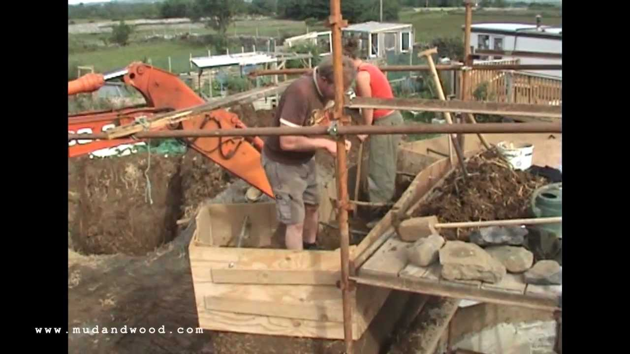 Mud and wood our cob house youtube for Build your house