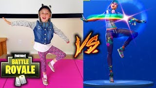FORTNITE DANCE IN REAL LIFE CHALLENGE!!! All New Dances! Star Power