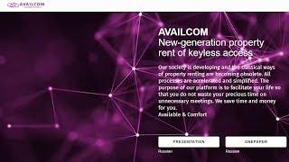 Availcom - New-generation property rent of keyless access