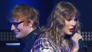 "Taylor Swift & Ed Sheeran SURPRISE Crowd With First ""End Game"" Performance"