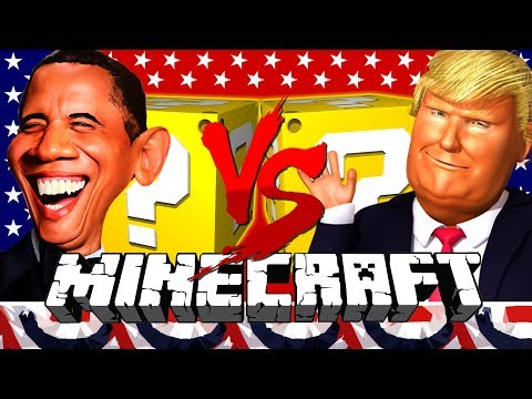 Minecraft: DONALD TRUMP LUCKY BLOCK CHALLENGE | VOTING RACE!!