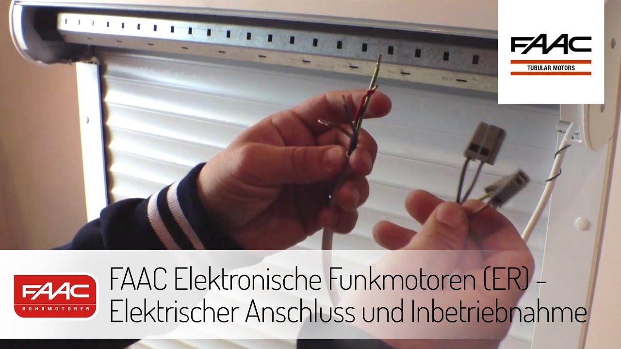 faac elektronische funkmotoren er elektrischer anschluss und inbetriebnahme youtube. Black Bedroom Furniture Sets. Home Design Ideas