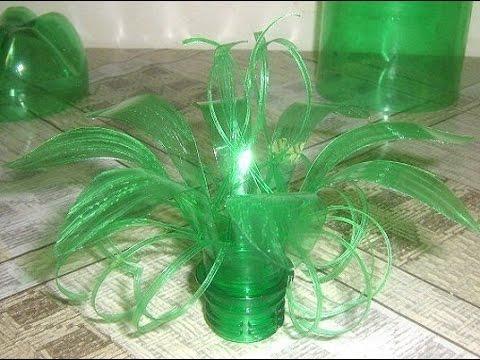 Поделки из бутылок пластиковых для цветов