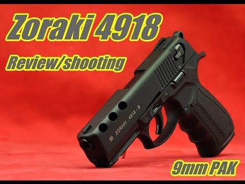 Zoraki 4918 Review / Test  9mm PAK