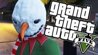 GTA 5 Online - SERIAL KILLER VS CIVILIAN CHRISTMAS SPECIAL!  - Funny Moments (Ps4)