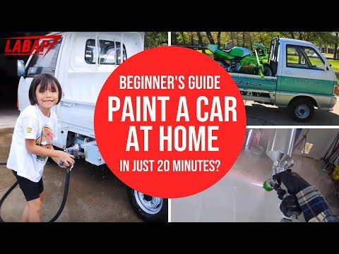 Beginner's Guide: Paint A Car At Home in 20 Minutes? - Step-By-Step Car Painting In Your Garage