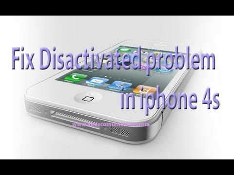 iPhone 5. 4S. 4 disabled. disactivated problem fixing