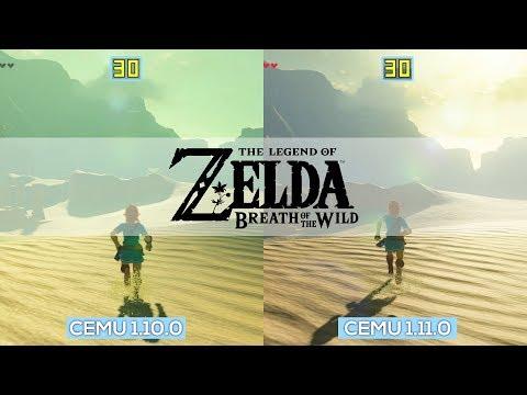 Cemu 1.11.0 VS 1.10.0   FPS Comparison   Zelda Botw