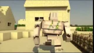 Steve vs iron golem minecraft batallas animación