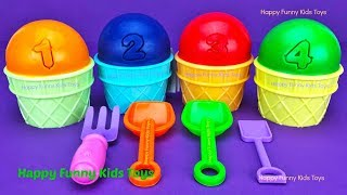 4 Play Doh Ice Cream Cups Surprise Toys Yowie Chupa Chups Barbie Surprise Egg