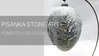 Pisanka stone art powertex krok po kroku, DIY tutorial