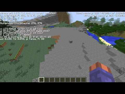 Amazing extreme hills biome Minecraft seed 1.7.10