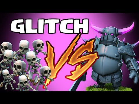 Clash of clans - NEW TROOP GLITCH (Pekka vs skeletons)