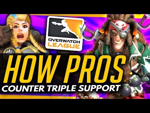 Overwatch   How The Pros Counter BRIGITTE TRIPLE SUPPORT!