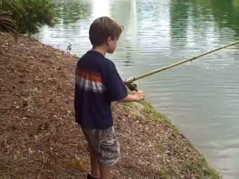 Make your own cane fishing pole mp4 youtube for How to make fishing rod