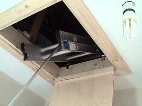 new wooden loft hatch w - YouTube