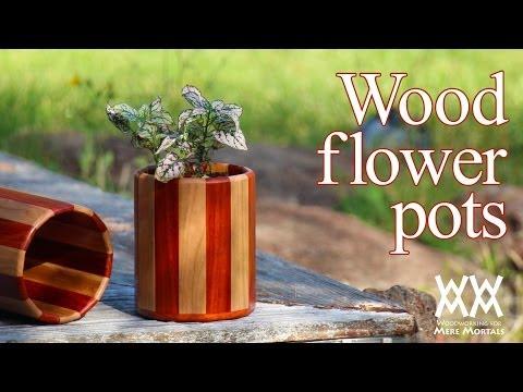Wood flower pots. Great gift idea!
