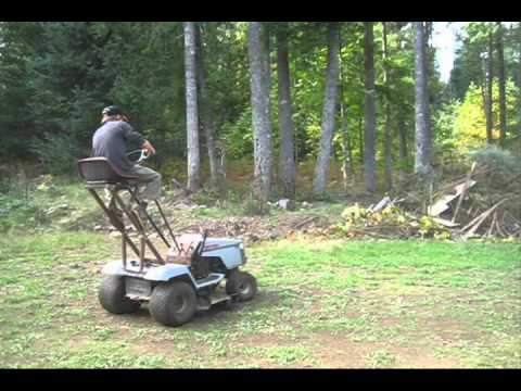 Redneck roller coaster lawn tractor (part 2) and Test drive!