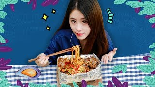 E54 How to cook spicy clam rice noodles at office with a brick? | Ms Yeah