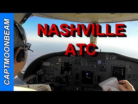 Cessna Citation Encore Landing Nashville Live ATC