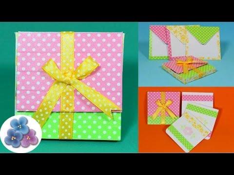 Como hacer regalos originales cajas diy scrap gifts - Manualidades para hacer tarjetas ...