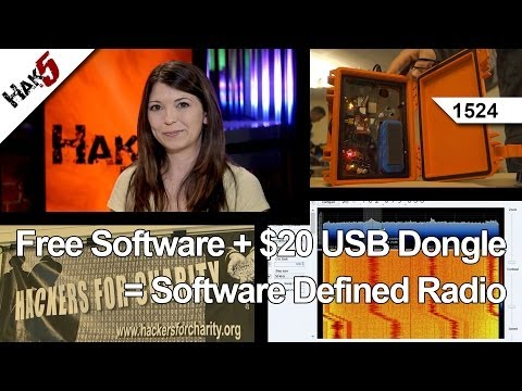 Free Software + $20 USB Dongle = Software Defined Radio. Hak5 1524