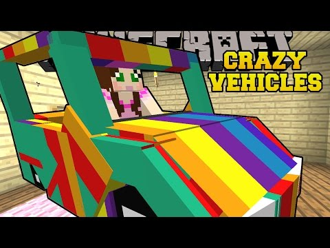Minecraft: CRAZY VEHICLES! (PLANETS. ROCKETS. & RAINBOW CARS) Mod Showcase