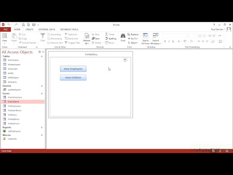 Advanced Microsoft Access 2013 Tutorial | Creating Command Buttons For Forms