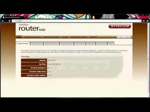 Configurazione router Sitecom con Eolo