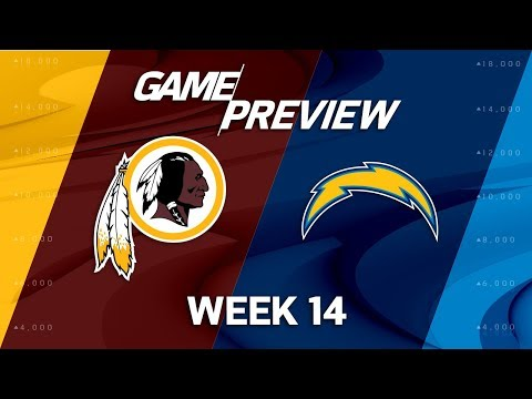 Washington Redskins vs. Los Angeles Chargers | NFL Week 14 Game Preview | Move the Sticks