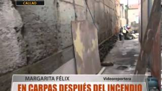 En Carpas Despu�s Del Incendio
