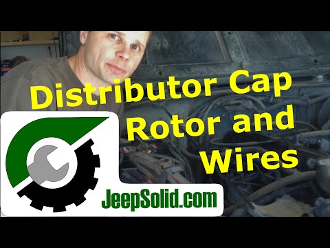 Jeep distributor cap: Distributor cap. rotor. and spark plug wires