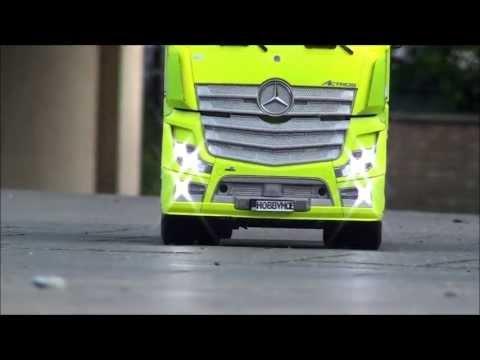 Rc Tamiya  Mercedes Actros  First run