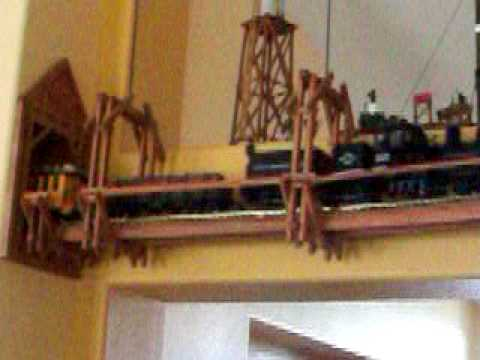 G Scale Train Suspended Track Youtube