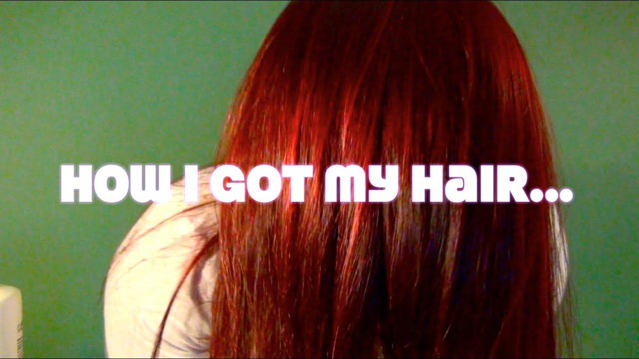 HOW TO: L'oreal HiColor 'RED HOT' Hair - YouTube