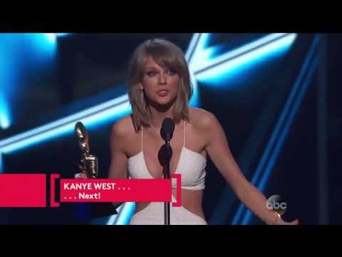 Taylor Swift winning 2015 Billboard award