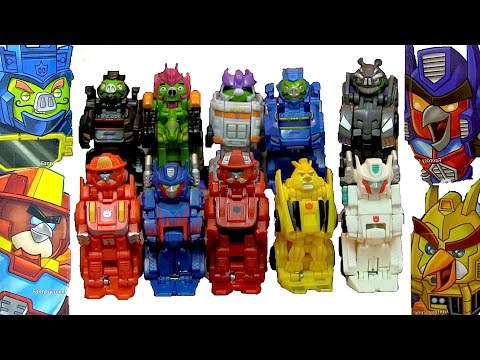 Full Set Of Single And Double Battle Packs - Angry Birds Transformers Telepods - Unbox, Review video