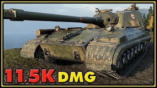 Object 268 Version 4 - 11,5K Damage - World of Tanks Gameplay