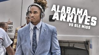 Watch the Tide arrive for a showdown with the Ole Miss Rebels