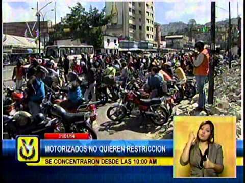 Motorizados realizaron movilización para solicitar mesas de diálogo por restricción de circulación