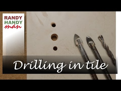 Drill a hole in ceramic tile