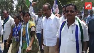 Kovvur YSRCP Leader T Vanitha participates in YS Jagan Paadayatra at West Godavari