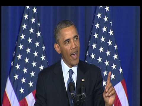 Obama heckled during foreign policy speech