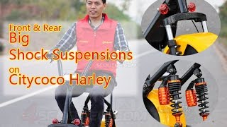 Shock Suspensions Performance on Junior Citycoco Harley Scooter ES5018IV