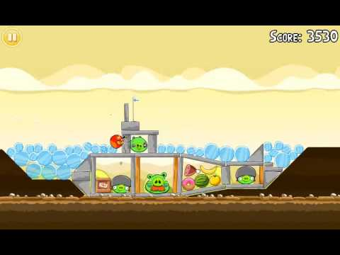 Official Angry Birds walkthrough for theme 5 levels 11-15