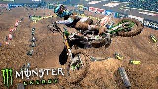 FIZ UMA MANOBRA 100% ÉPICA de MOTO!!! - Monster Energy SuperCross